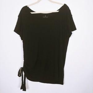 Caslon Black Tee w/ Side Tie Size XL